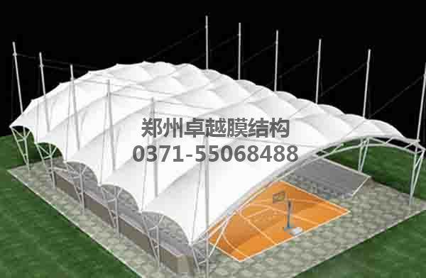 篮球场顶棚膜结构设计方案赏析一