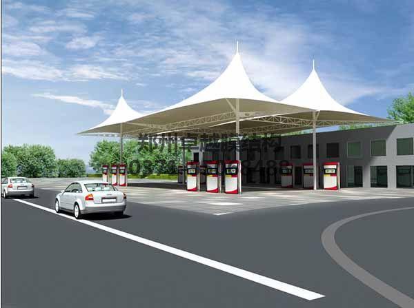 加油站膜结构顶棚设计效果图二