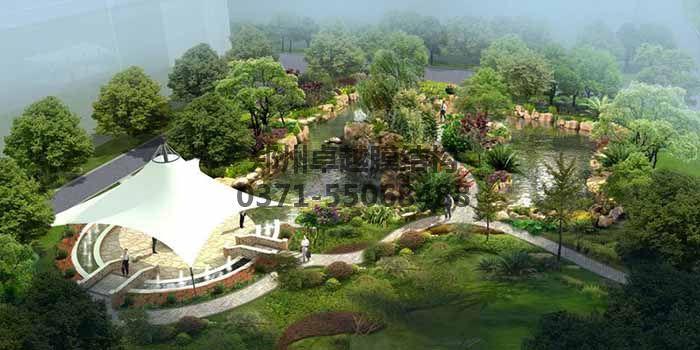 广场/公园膜结构效果图一