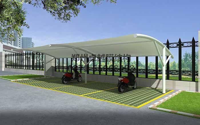 膜结构车棚设计效果图二