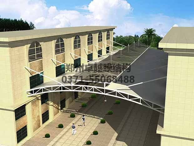 商场走廊膜结构效果图