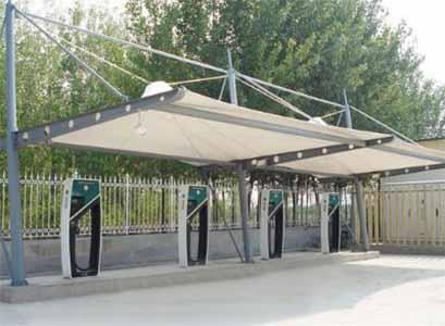 充电站膜结构罩棚/雨棚/遮阳篷