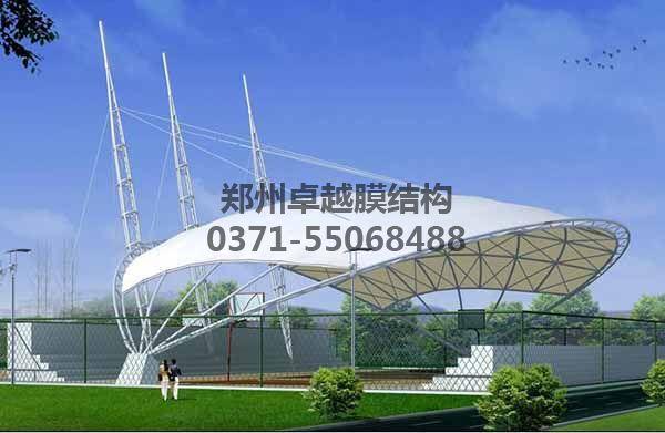 篮球场膜结构顶棚设计赏析二