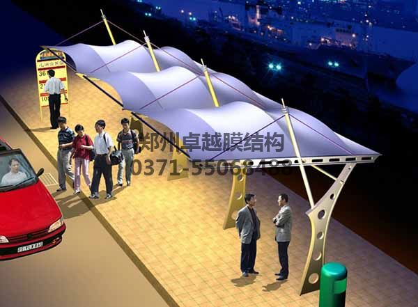 公交展台膜结构设计二