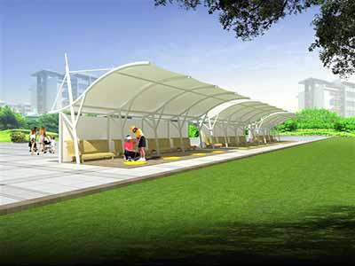 高尔夫发球台膜结构罩棚/雨棚/遮阳棚