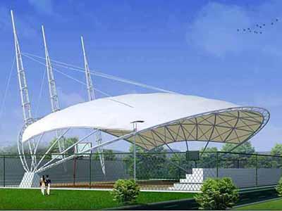 篮球场膜结构顶棚