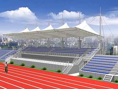 体育场看台/操场主席台膜结构遮阳篷顶棚雨棚