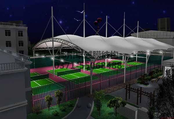 网球/羽毛球馆顶棚膜结构设计三