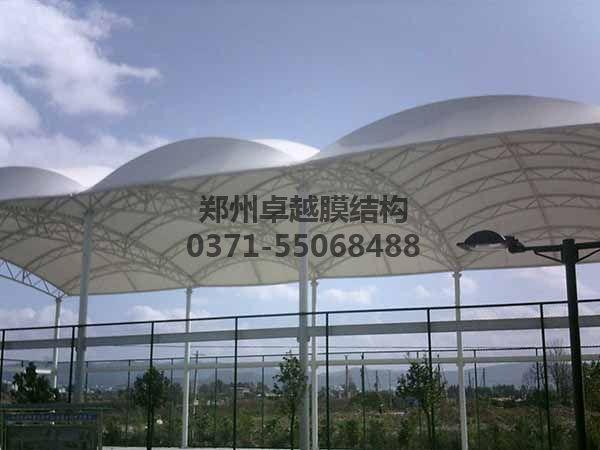 篮球场膜结构顶棚实例赏析一