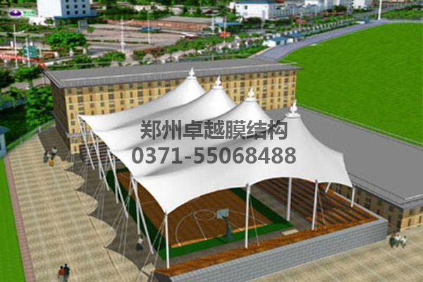 篮球场膜结构顶棚设计赏析三