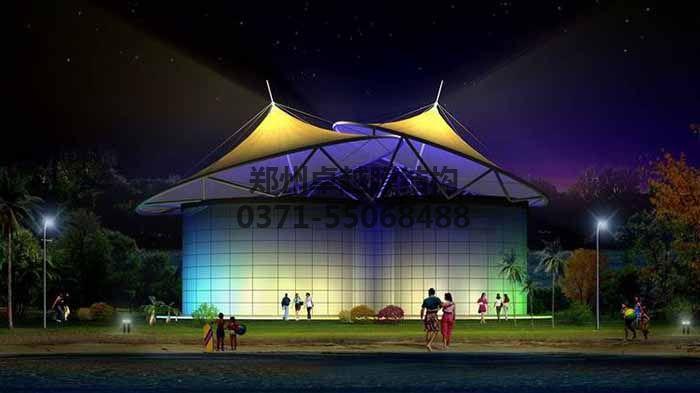 景观膜结构造型之展厅效果图