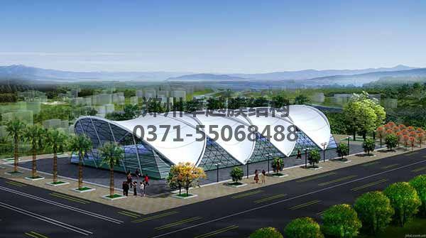 网球/羽毛球馆顶棚膜结构设计一