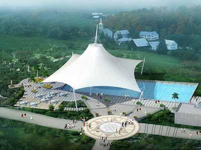 游泳池膜结构罩棚/遮阳篷