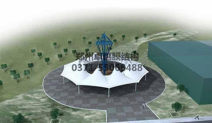 游乐场/儿童乐园膜结构遮阳棚设计效果图一