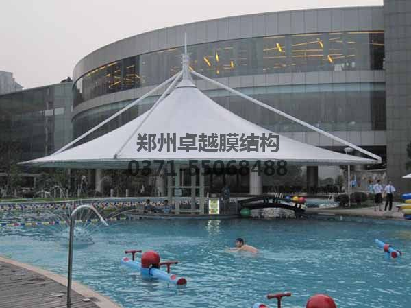 游泳池膜结构遮阳棚-某商城泳池