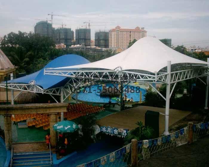 游乐场/儿童乐园膜结构遮阳棚实例-水上乐园遮阳项目