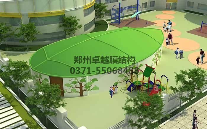 幼儿园膜结构遮阳棚设计效果图二