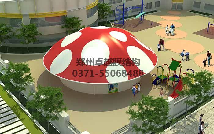 幼儿园膜结构遮阳棚设计效果图一