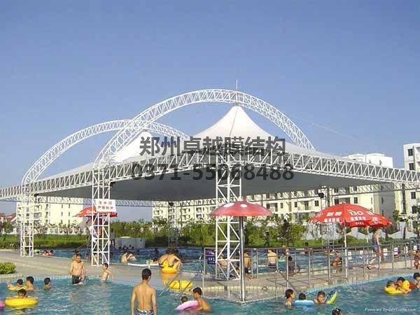 社区大泳池膜结构罩棚