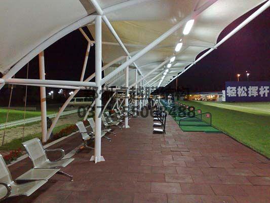 沈水湾高尔夫球场发球台罩棚内部