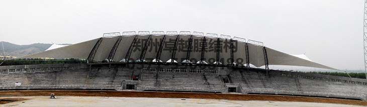 黑龙江农垦学院膜结构看台正面