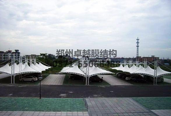 杭州萧山区靖江镇政府膜结构车棚