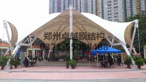 卓越广场遮阳膜结构案例