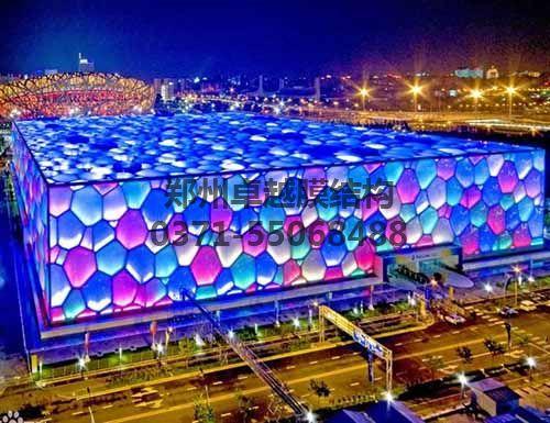 鸟巢跟水立方是我国应用膜结构最著名的建筑