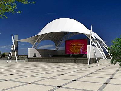 舞台膜结构/舞台罩棚/遮阳篷/雨棚