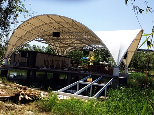 郑州马拉湾舞台膜结构图一