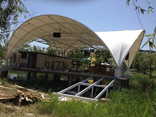 郑州马拉湾舞台膜结构图二
