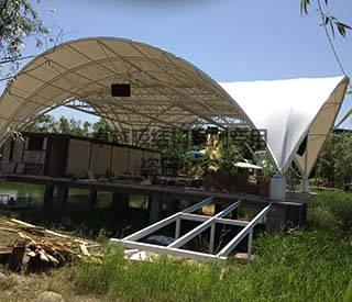 郑州马拉湾舞台膜结构