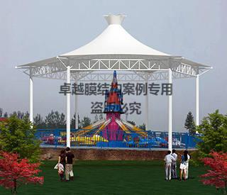三门峡黄河公园游乐场膜结构遮阳棚效果图