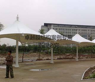 沈阳交校膜结构长廊