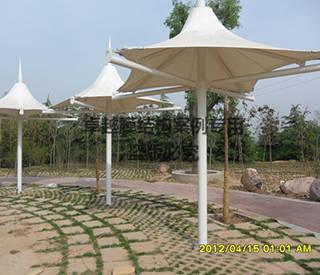 郑州森林公园景观膜结构小伞