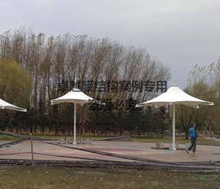 长春市岱山公园膜结构景观小伞