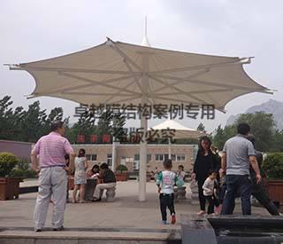 郑少高速少林寺服务区膜结构景观小伞