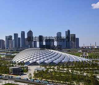 天津于家堡高铁站膜结构