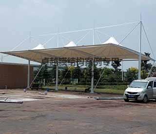 焦作孟州中原内配充电站膜结构车棚