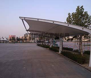 郑州御泉陵园膜结构车棚/广告棚