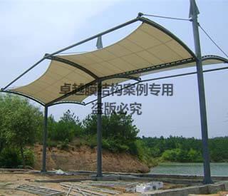 江苏上饶恒康药业公交站台膜结构遮阳棚