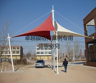 商丘宁陵县小区大门膜结构景观
