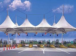 收费站膜结构雨棚的优点有哪些?