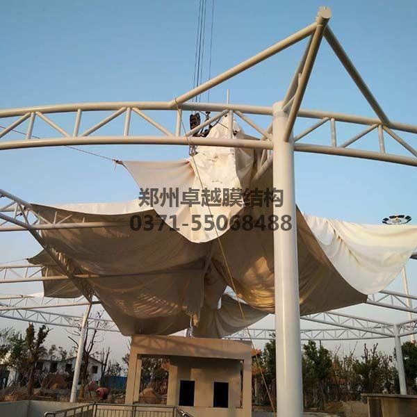 新郑中兴广场膜结构景观装膜