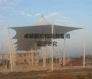 广州白云机场收费站膜结构顶棚