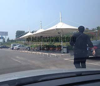 濮阳高速路口景观膜结构遮阳棚