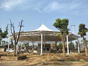 新郑中兴广场膜结构景观工程项目动态