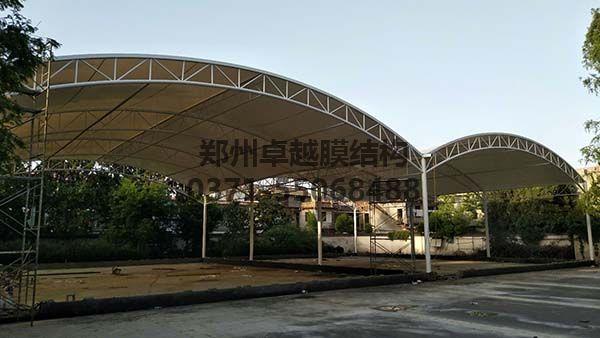 南阳社旗县门球场膜结构顶棚完工图
