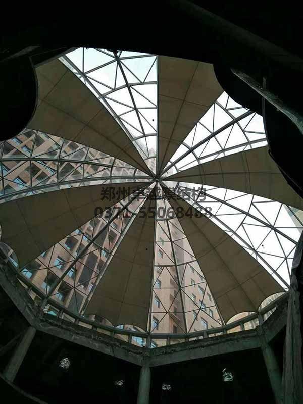商丘柒悦城商场膜结构圆屋顶