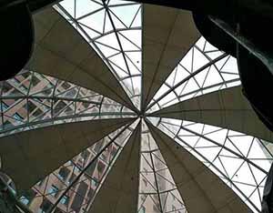 商丘柒悦城商场膜结构屋顶工程动态